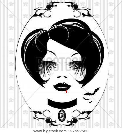 gotische Lady Kopf