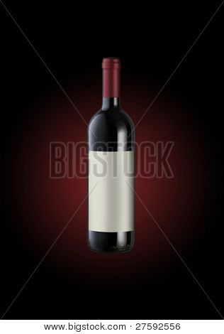 Red Wine Bottle, Label Copy Space