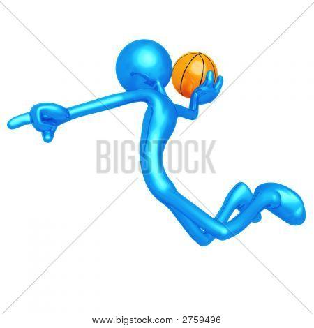 Aufrufen der Schuss Basketball Slam