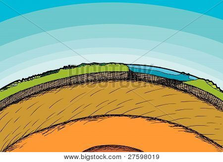 Earth Cross-section