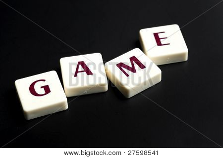 poster of Game word made by letter pieces