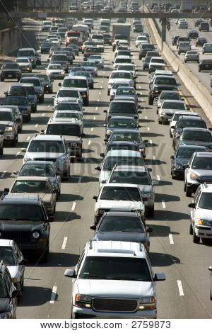 Traffic Jam In Los Angeles