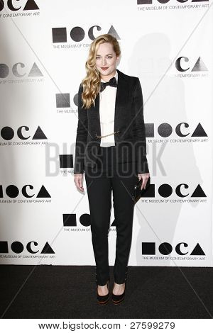 LOS ANGELES - NOV 12: Dakota Johnson at the 2011 MOCA Gala, An Artist's Life Manifesto at MOCA Grand Avenue on November 12, 2011 in Los Angeles, California