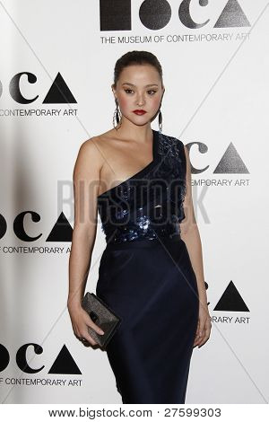 LOS ANGELES - NOV 12: Devon Aoki at the 2011 MOCA Gala, An Artist's Life Manifesto at MOCA Grand Avenue on November 12, 2011 in Los Angeles, California