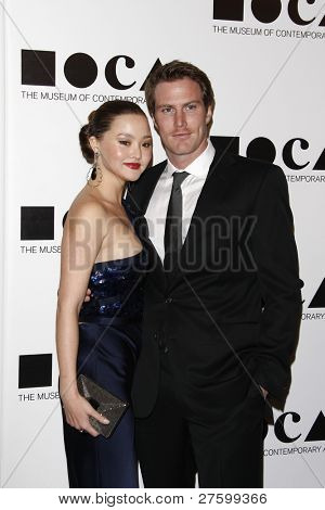 LOS ANGELES - NOV 12: Devon Aoki; James Bayley at the 2011 MOCA Gala, An Artist's Life Manifesto at MOCA Grand Avenue on November 12, 2011 in Los Angeles, California