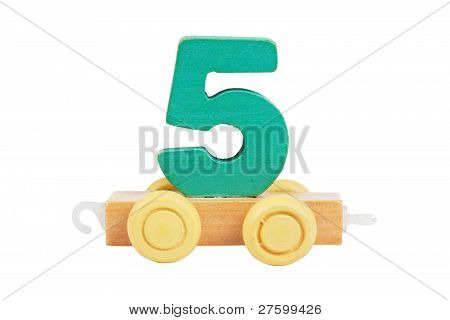 Wooden Toy Number 5