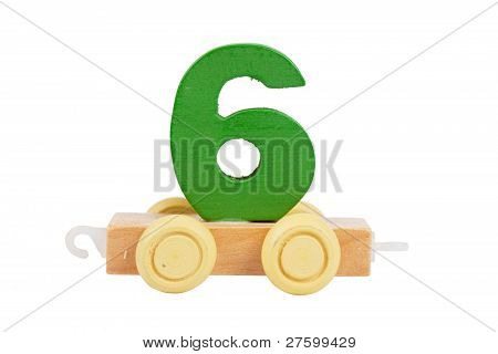 Wooden Toy Number 6