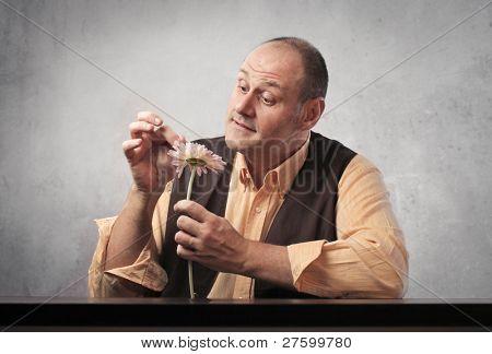Hombre vacilante una Margarita
