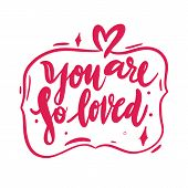 I Love You Hand Drawn Vector Lettering. Love Romantic Quote. poster