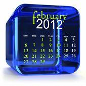 Постер, плакат: Синий февраля календарь