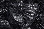 Garbage Plastic Bag Black, Many Bag Plastic Stack Of Garbage Waste, Plastic Bag For Waste Separation poster