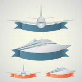 foto of cruise ship  - Plane and ship banners - JPG