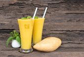 Mango Smoothies Yellow Colorful Fruit Juice Milkshake Blend Beverage Healthy High Protein The Taste  poster