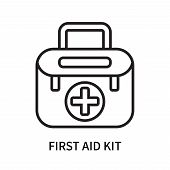 First Aid Kit Icon Isolated On White Background. First Aid Kit Icon Simple Sign. First Aid Kit Icon  poster