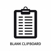 Blank Clipboard Icon Isolated On White Background. Blank Clipboard Icon Simple Sign. Blank Clipboard poster