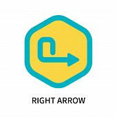 Right Arrow Icon Isolated On White Background. Right Arrow Icon Simple Sign. Right Arrow Icon Trendy poster