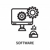 Software Icon Isolated On White Background. Software Icon Simple Sign. Software Icon Trendy And Mode poster
