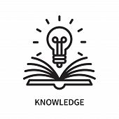 Knowledge Icon Isolated On White Background. Knowledge Icon Simple Sign. Knowledge Icon Trendy And M poster