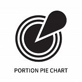 Portion Pie Chart Icon Isolated On White Background. Portion Pie Chart Icon Simple Sign. Portion Pie poster