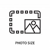 Photo Size Icon Isolated On White Background. Photo Size Icon Simple Sign. Photo Size Icon Trendy An poster
