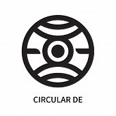 Circular De Icon Isolated On White Background. Circular De Icon Simple Sign. Circular De Icon Trendy poster