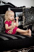 pic of little kids  - Image of a little girl in a fashionable luxury interior - JPG