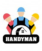Vector illustration of Handyman concept