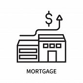 Mortgage Icon Isolated On White Background. Mortgage Icon Simple Sign. Mortgage Icon Trendy And Mode poster