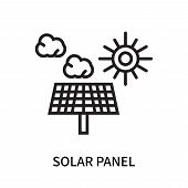 Solar Panel Icon Isolated On White Background. Solar Panel Icon Simple Sign. Solar Panel Icon Trendy poster