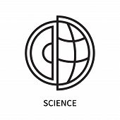 Science Icon Isolated On White Background. Science Icon Simple Sign. Science Icon Trendy And Modern  poster