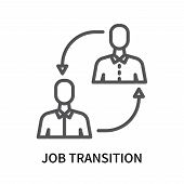 Job Transition Icon Isolated On White Background. Job Transition Icon Simple Sign. Job Transition Ic poster