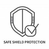 Safe Shield Protection Icon Isolated On White Background. Safe Shield Protection Icon Simple Sign. S poster