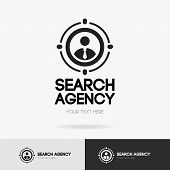 Search Agency Logo Isolated On White Background For Hiring, Headhunter Website, Recruitment, Employm poster