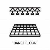 Dance Floor Icon Isolated On White Background. Dance Floor Icon Simple Sign. Dance Floor Icon Trendy poster