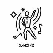 Dancing Icon Isolated On White Background. Dancing Icon Simple Sign. Dancing Icon Trendy And Modern  poster