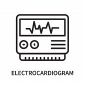 Electrocardiogram Icon Isolated On White Background. Electrocardiogram Icon Simple Sign. Electrocard poster