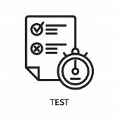Test Icon Isolated On White Background. Test Icon Simple Sign. Test Icon Trendy And Modern Symbol Fo poster