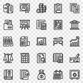 Accounting Icon Set. Outline Set Of Accounting Vector Icons For Web Design poster