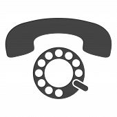 Pulse Phone Vector Illustration On A White Background. An Isolated Flat Icon Illustration Of Pulse P poster