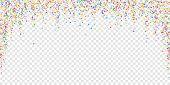 Festive Confetti. Celebration Stars. Rainbow Bright Stars On Transparent Background. Dazzling Festiv poster