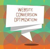 Word Writing Text Website Conversion Optimization. Business Concept For System For Increasing Websit poster