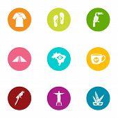 Spirit Icons Set. Flat Set Of 9 Spirit Icons For Web Isolated On White Background poster