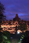 picture of arjuna  - Borobudur Temple at Dusk in Yogyakarta - JPG
