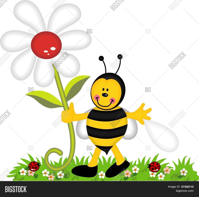 banco de jardim vetor:de exploração abelha feliz no jardim Bancos de Vetores & Bancos de
