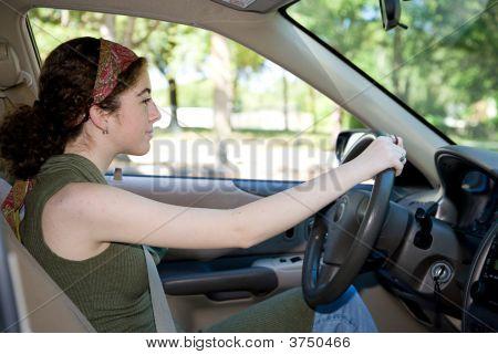 Teen Behind The Wheel