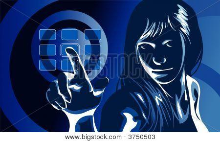 Virtual Girl Blue