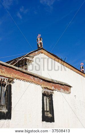Tibetan Temple Roof Decoration