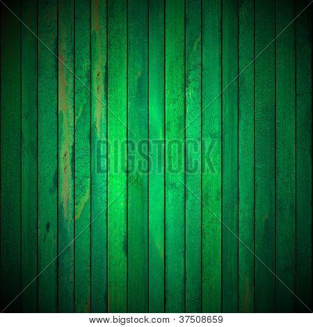 Green Grunge Wooden Background