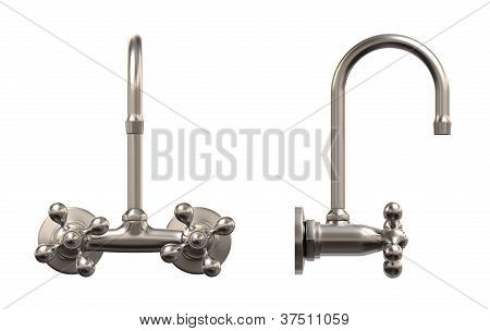 faucet, isolated on white, work-path