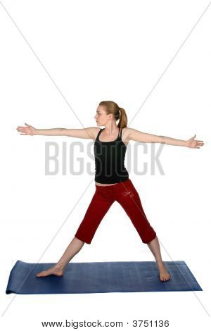 Young Woman In Standing Yoga Pose